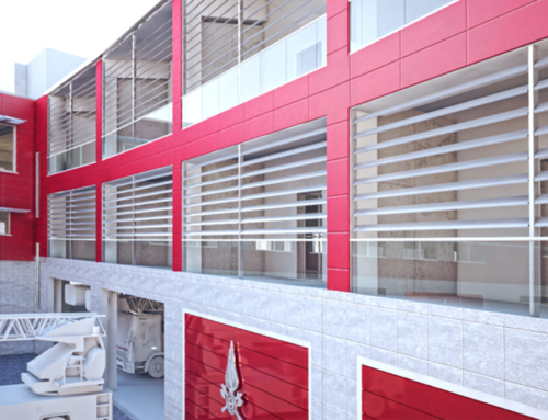 New base isolation firefighter Station in L'Aquila