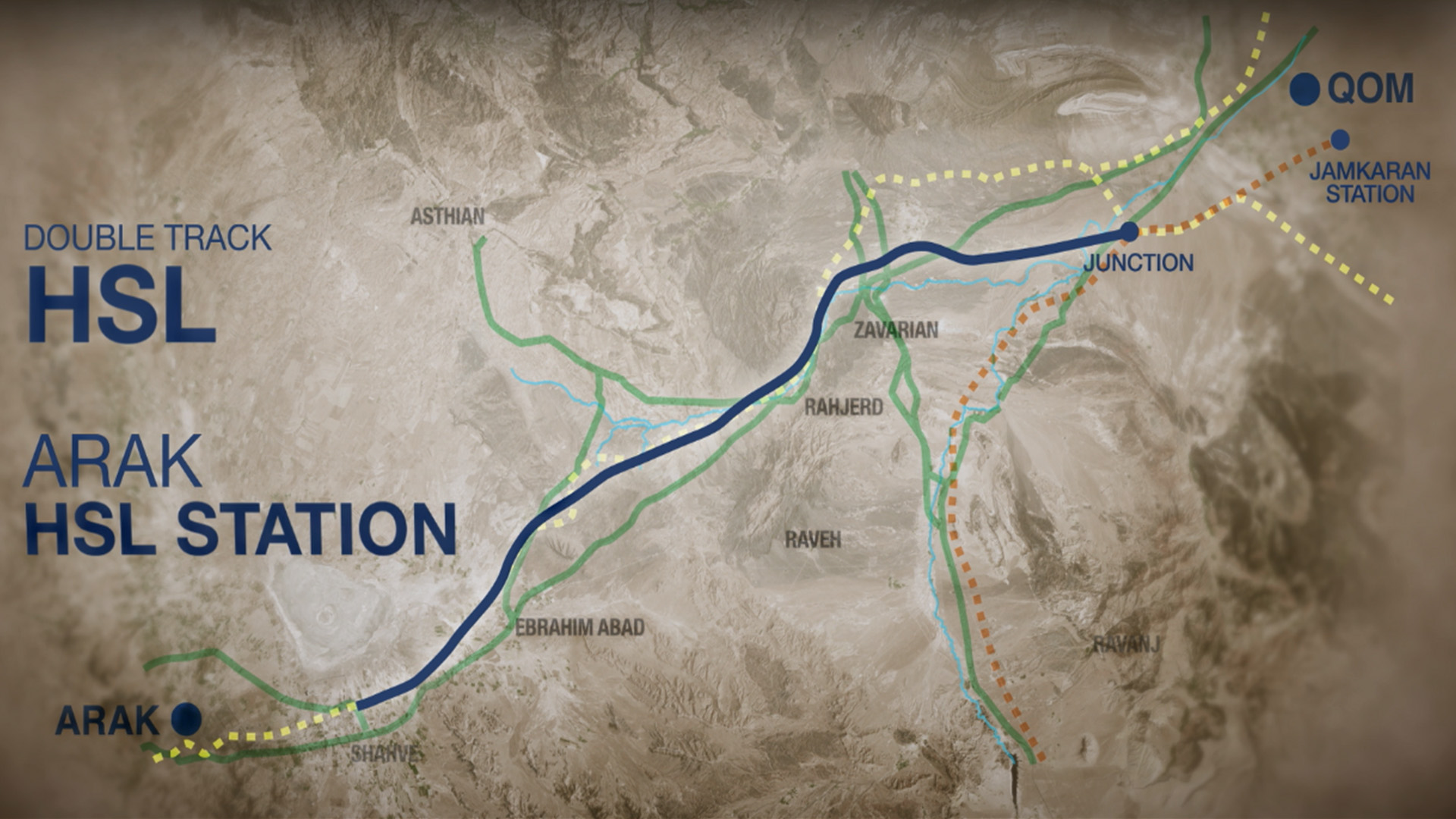 Preliminary design of Qom Arak High Speed Railway